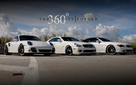 Картинка авто, тюнинг, bmw, mercedes, porshe, cars, 360 forged