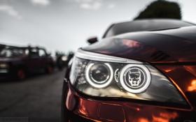 Картинка машина, авто, фара, BMW, Тень, auto, смотра