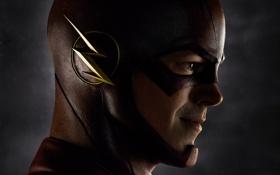 Обои лицо, фантастика, маска, сериал, крупным планом, Флэш, The Flash