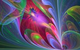 Обои линии, абстракция, психоделика, округлости