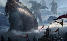 Обои art, армия, гиганты, титаны