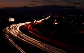 Картинка дорога, свет, шоссе, Highway