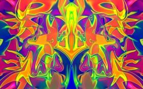 Обои хаос, узор, симметрия, свет, фрактал, цвет