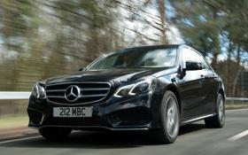 Картинка дорога, машина, черный, Mercedes-Benz, скорость, мерс, AMG
