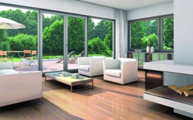Обои дизайн, стиль, интерьер, гостиная, модерн, жилое пространство