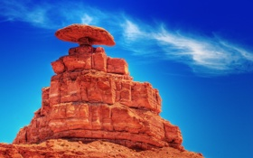 Обои небо, камни, скалы, облако