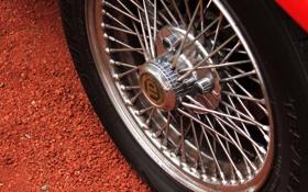 Картинка car, машина, колесо, спицы, грунт, 2560x1600, wheel