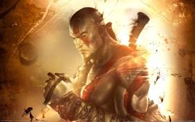 Обои тату, цепи, шрам, GameWallpapers, Kratos, Кратос, PS3