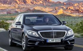 Картинка седан, машина, передок, BlueTec, S 350, Mercedes-Benz