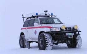 Обои зима, Nissan, Patrol
