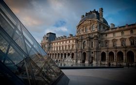 Обои Франция, Париж, Лувр, площадь, музей