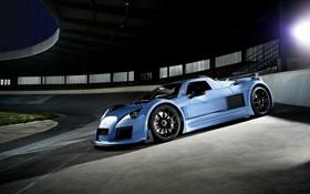 Картинка синий, суперкар, спорткар, Gumpert, автомобиль, гумперт, Apollo S