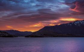 Картинка утро, Новая Зеландия, Южный остров, озеро Текапо
