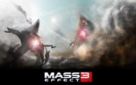 Обои атака, игра, жнецы, Mass Effect 3
