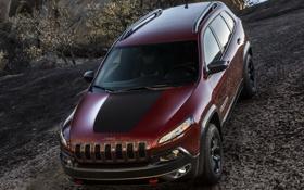 Картинка авто, обои, джип, внедорожник, Jeep, Cherokee, Trailhawk