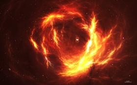 Обои зори, галактика огня, inevitable