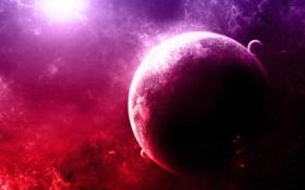 Обои звезды, Планета, Purple, Туманности