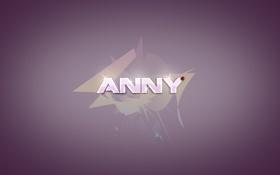 Картинка Anny, имя, Ann, божая коровка, Анна, Аня, фиолетовый