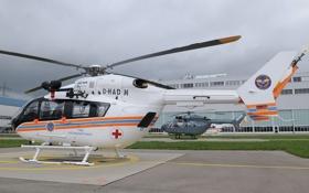 Обои EC-145, Вертолет, МЧС Казахстана, EC145, Eurocopter, Завод, EC 145
