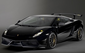 Картинка LP570-4, fon, car, black, Blancpain Edition, Gallardo, Lamborghini