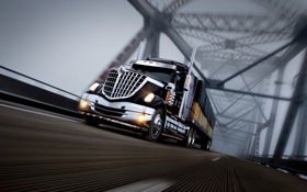 Обои truck, фура, Интернешинл, international, lonestar, грузовик