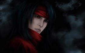 Обои фон, арт, парень, Final Fantasy, красные глаза, Винсент, Vinsent