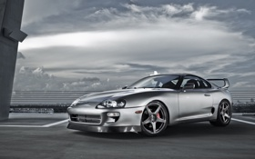Картинка toyota supra, cars walls, tuning cars, blac, wallpapers auto, auto, toyota
