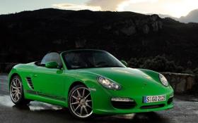 Обои green, Porsche, зелёный, порше, передок, Boxster S, бокстер