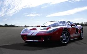 Картинка красный, гонки, Ford GT, sportcar, Forza Motorsport 4