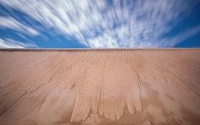 Обои песок, небо, природа