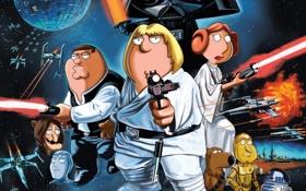 Обои Гриффины, Звёздные войны, Family Guy