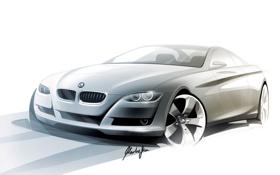 Обои BMW, белый, рисунок