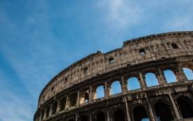 Картинка небо, Рим, Колизей, Италия, архитектура, Italy, Colosseum