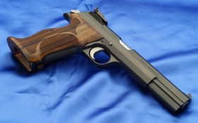 Обои sig sauer p210 pistol, wood, blue, Weapons