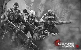 Картинка игры, Gears of War 3, Маркус Феникс, шестерни войны