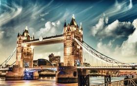 Обои Tower Bridge, London, England, Thames River