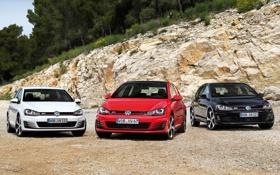 Картинка Volkswagen, cars, wallpapers, Golf, three