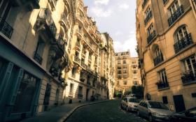 Обои здания, Paris, улица, окна, Париж, город, архитектура