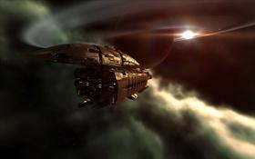 Картинка фантастика, корабль, планета, чужой