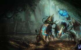 Картинка Скорпион, League of legends, Skarner, Кристалы, The Crystal Vanguard