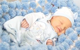 Обои ребенок, спит, Winter, младенец, baby, kid, Sleep