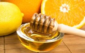 Обои ложка, мёд, цитрус, мед, апельсин, лимон