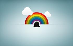 Картинка облака, радуга, мини, дарт вейдер