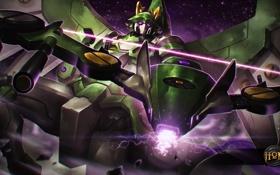 Обои робот, art, Heroes of Newerth, Savior, Emerald Warden, Savior Emerald Warden, A.R.M.S