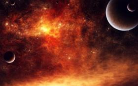 Обои звёзды, космос, планеты