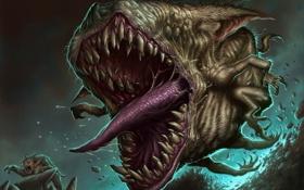 Обои язык, монстр, зубы
