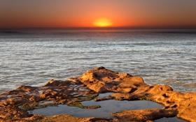 Картинка восход, океан, Аргентина