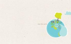 Обои вода, стиль, дерево, океан, узоры, краски, мир