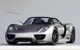 Обои Concept, Porsche, supercar, порше, Spyder, 918, передок
