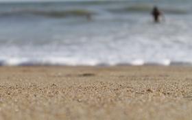 Обои песок, море, вода, прилив